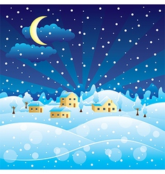 winter scenery vector image