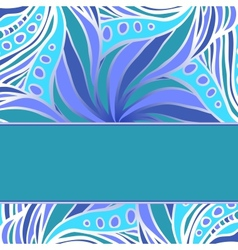 Blue pattern with stripe vector image