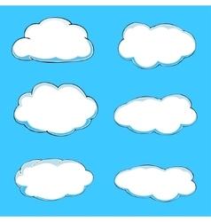Cartoon clouds vector image