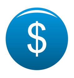 dollar icon blue vector image