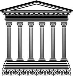 Greec temple vector image