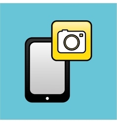 Smartphone icon design vector image