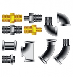 water pipe connectors vector image vector image