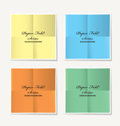 folded paper collection vector image vector image