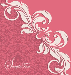 pink floral card vector image