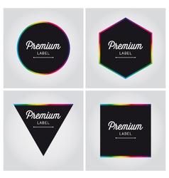 premium logo label set vector image vector image