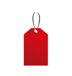 red price tag commerce sale offer symbol vector image