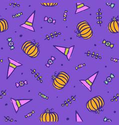 beautiful bright halloween background vector image