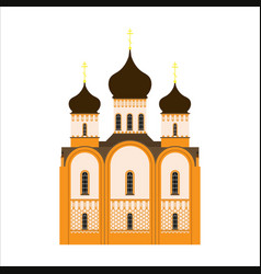 orthodox church flat icon vector image vector image