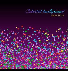 Particles confetti backdrop vector
