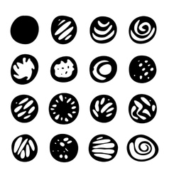 Set Of Hand Drawn Doodle Borders vector image