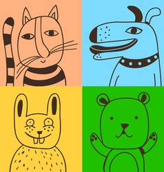 four pets vector image