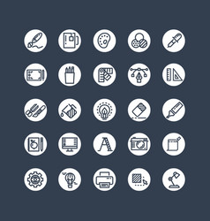 graphic design icons - tools office stationery vector image vector image