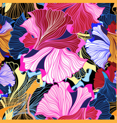 abstract bright pattern seamless fiction vector image