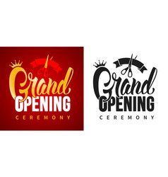 advertisement grand opening vector image