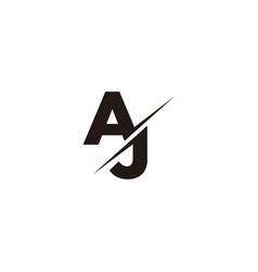 Aj logo letter monogram slash with modern logo vector