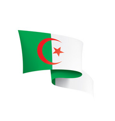 algeria flag on a white vector image