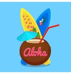 Aloha Hawaii carefree happy life vector