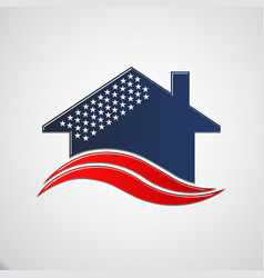 American house 50 stars vector