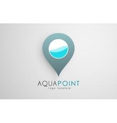 Aqua logo design point water logo design vector