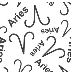 aries zodiac sign seamless pattern background vector image