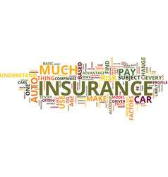 auto insurance which one text background word vector image