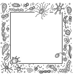 Bacteria cells frame vector