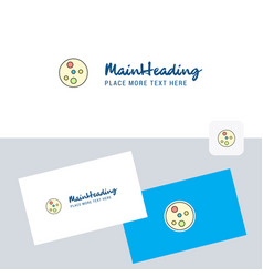 Bacteria plate logotype with business card vector