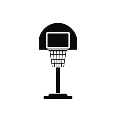 Basketball goal on a playground icon vector image