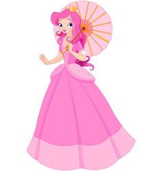 beautiful princess at summer day vector image vector image