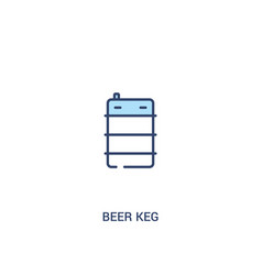 Beer keg concept 2 colored icon simple line vector