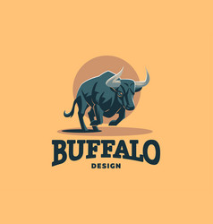 Bull with big horns vector