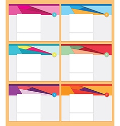 Business stationary template vector