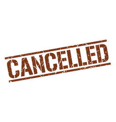 Cancelled stamp vector