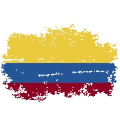 Colombia grunge flag vector image
