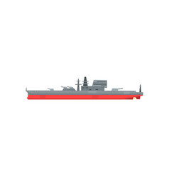 Colored icon of large military tanker ship with vector