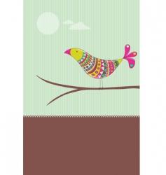 colorful bird card vector image