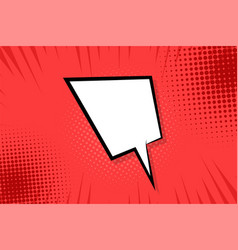 comic book empty speech bubble vector image