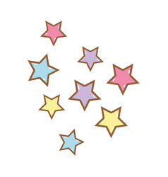 Cute light stars in the sky vector