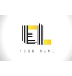 el black lines letter logo creative line letters vector image
