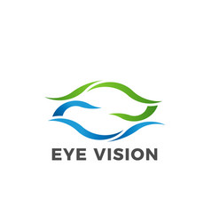 Eye vision logo symbol vector