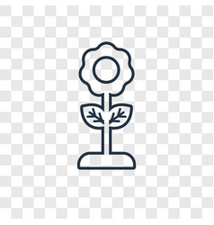 flower concept linear icon isolated on vector image