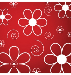 Flowers and swirls vector