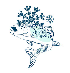 Frozen salmon symbol vector