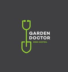 Garden doctor logo vector