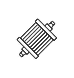 Gasoline filter icon a simple linear image vector