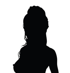 Girl black silhouette in hot poses vector