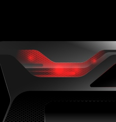 Glossy red lighting vector
