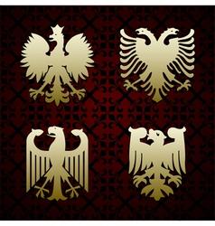 Gold eagle vector image