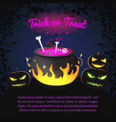 greeting halloween holiday template vector image